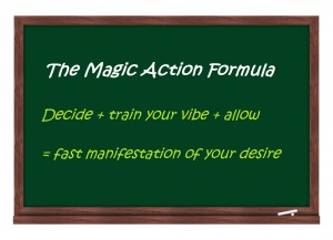 Picture of Blackboard with the Magic Action Formula